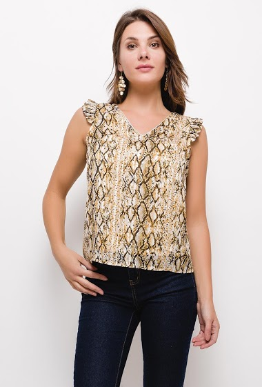 Blouse with python print
