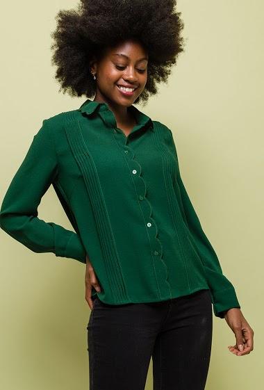 Chemise avec détail festonné