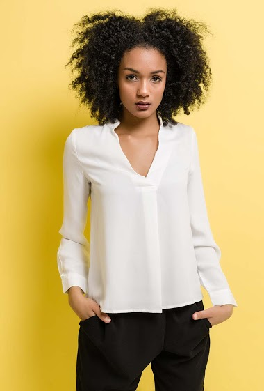 Shirt with gold piping