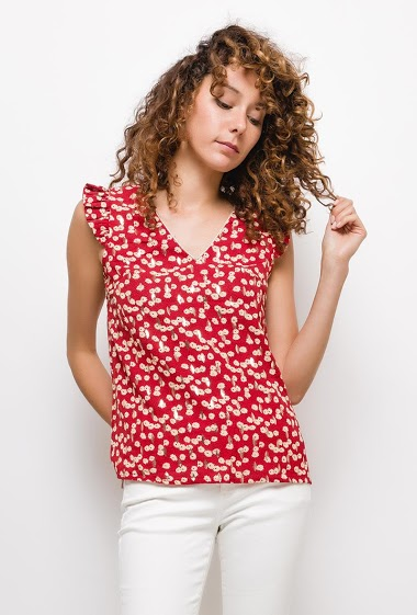 Tank top with printed flowers