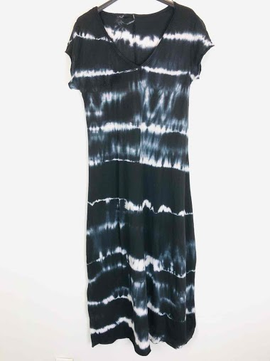 Robe t-shirt en coton tie and dye