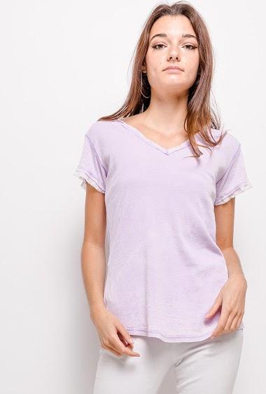 T-shirt en coton délavage vintage