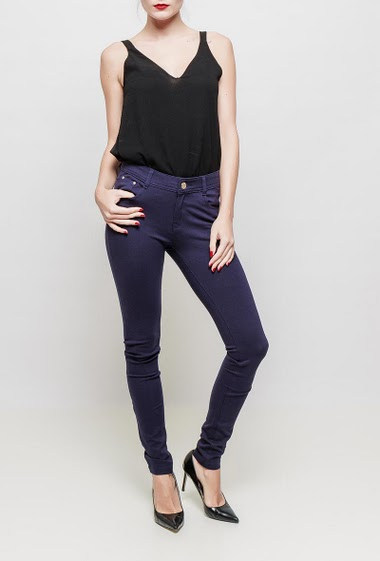 Stretch pantswith pockets, stretch fabric, skinny fit