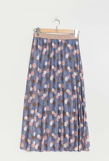 Spotted skirt. The model measures 177cm, one size corresponds to 10/12(UK) 38/40(FR). Length:87cm