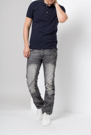 Faded and functional jeans with pockets -US Marshall