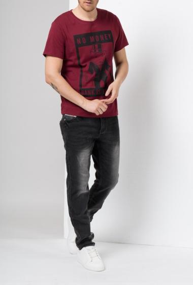 T-shirt en jersey avec impression à manches courtes -Monopoly