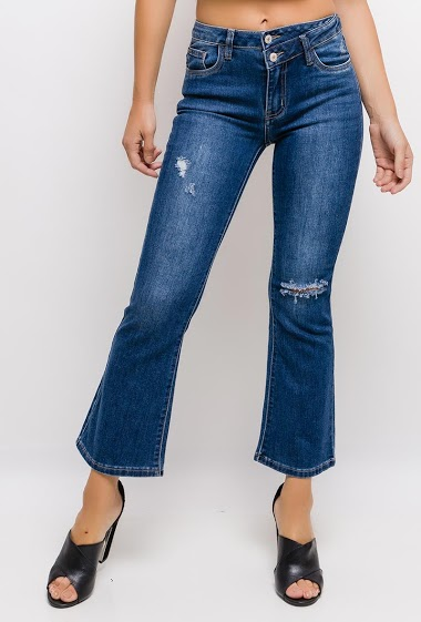 QUEEN HEARTS flared jeans FASHION CENTER