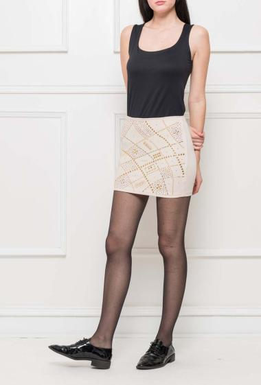 Skirt decorated with strass, zip on the back, perfect for parties