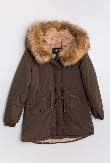 Parka with fur inner