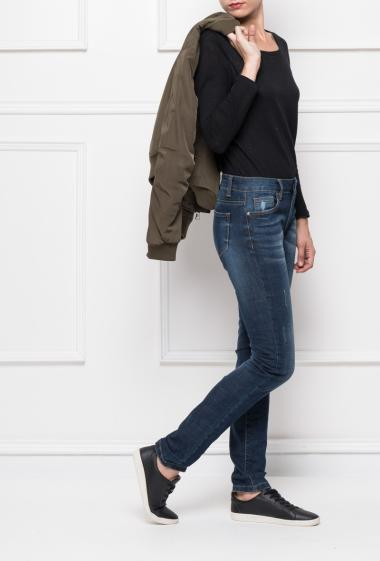 Jeans with high waist, skinny fit