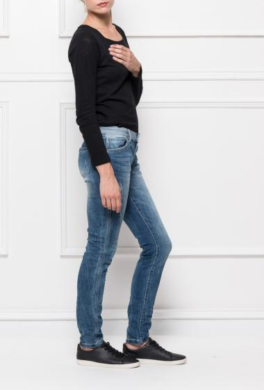 Jeans with two fadings, regular fit
