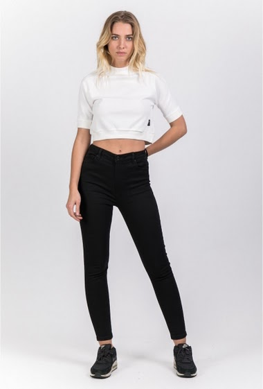 Sweat crop Sixth June Femme blanc 1048V