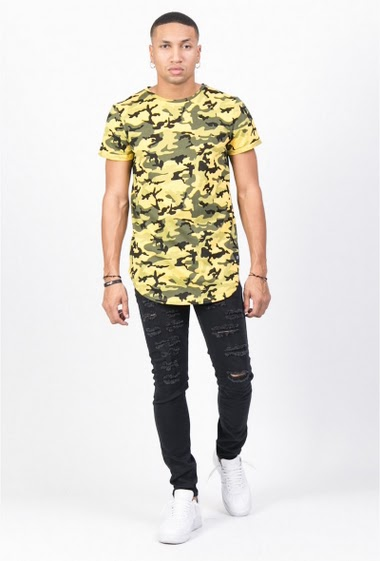 T-shirt camouflage Sixth June jaune