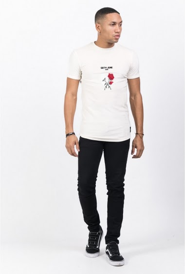 Sixth June roses velvet T-shirt white