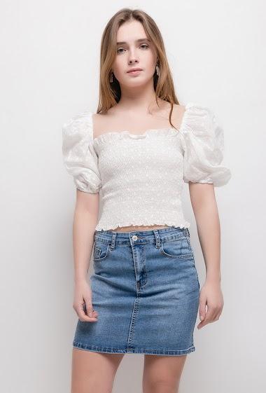 Denim basic skirt