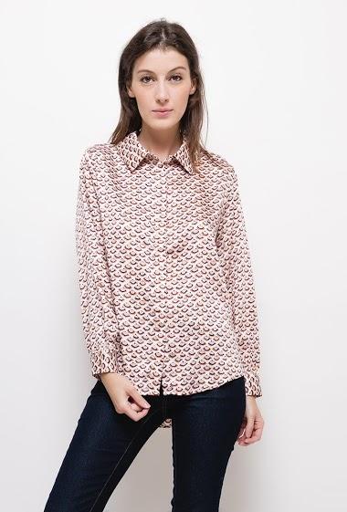 Pattern satin shirt