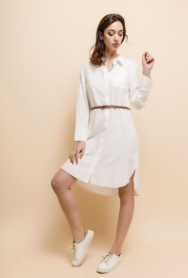 The model measures 177cm and wears S. Length:100cm(back)