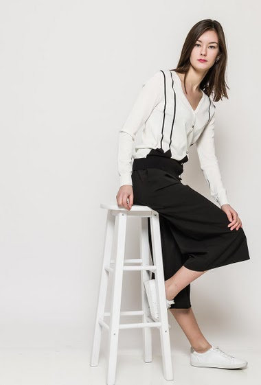 The model measures 172cm and wears S. Length:65cm