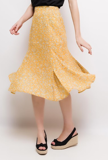 Printed midi skirt. The model measures 177cm and wears S