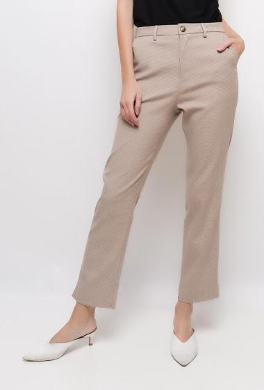 Pantalon de tailleur à carreaux ,La mannequin mesure 178cm et porte du S