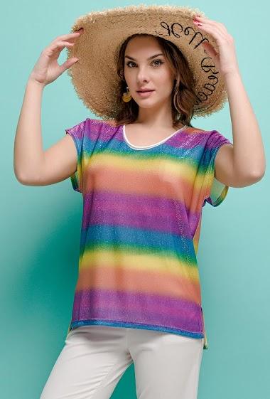 SOPHYLINE iriserend t-shirt CIFA FASHION