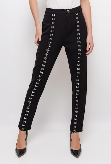 Large trousers with hooks