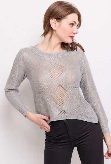 Iridescent sweater