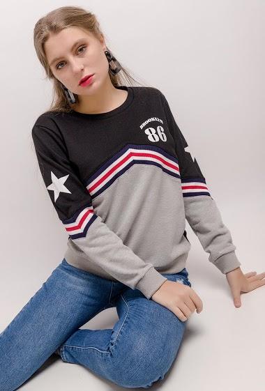 SOVOGUE sweatshirt mit dreifarbigen streifen CIFA FASHION
