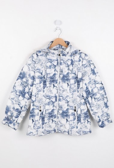 Flower print down jacket