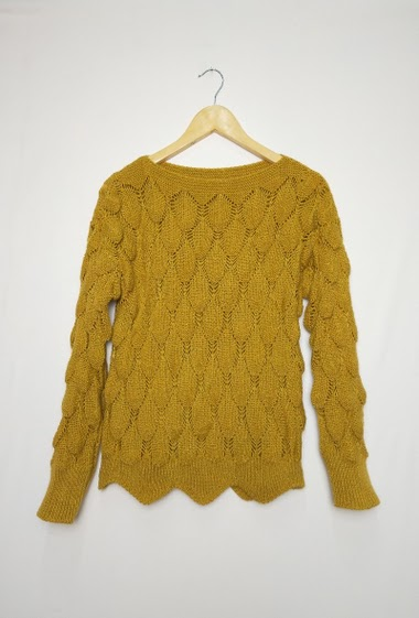 Ribbed sweater, One size corresponds to 10/12(UK) 38/40(FR) Length:55cm