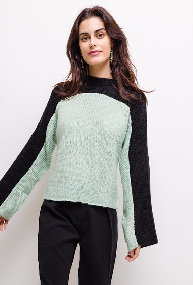 Two-color sweater