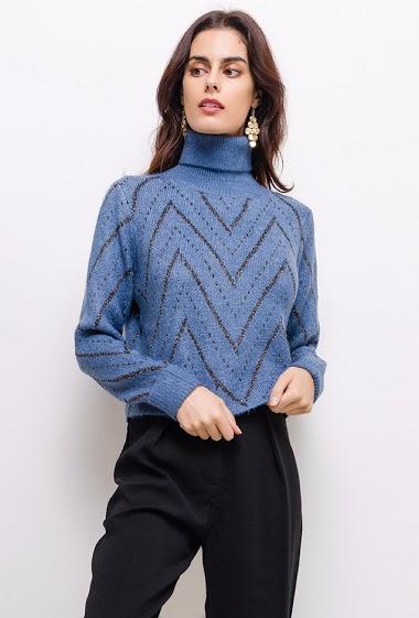 Suéter de cuello alto