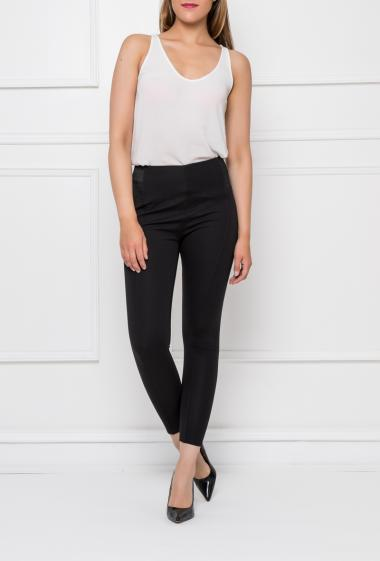 Casual leggings with elastic and hight waist