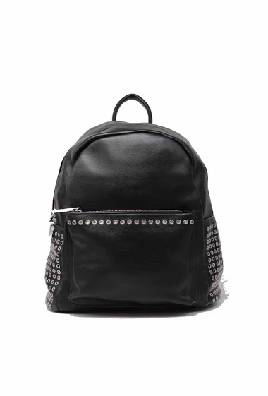 TOM & EVA studded backpack leather effect 17f-1928 AUBERVILLIERS FASHION