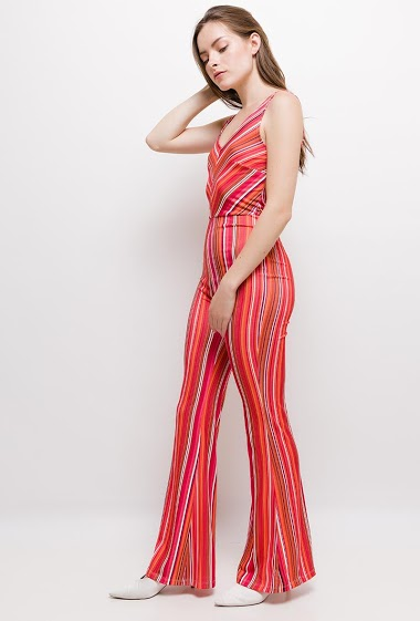 Strappy stretch jumpsuit. The model measures 168cm and wears S. Length:155cm