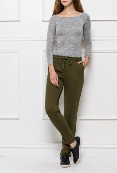 Jogging trousers with fancy ankles, elastic waist
