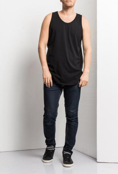 Tank top in jersey, casual fit