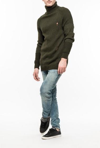 Knit sweater, turtleneck
