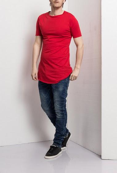 Short sleeves t-shirt, zip side, fancy back