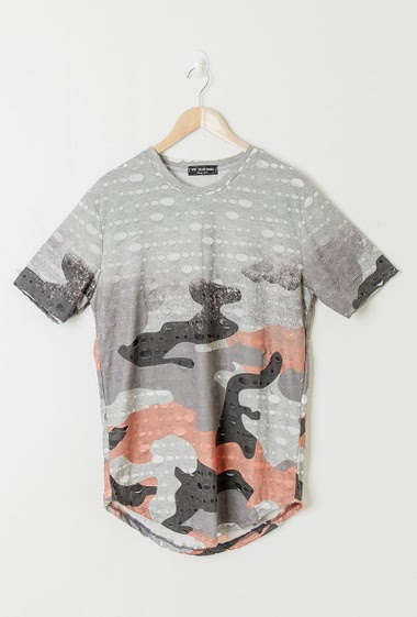 Tee-shirt camouflage destroy
