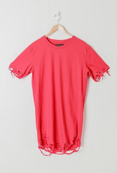 Tee-shirt fleur oversize