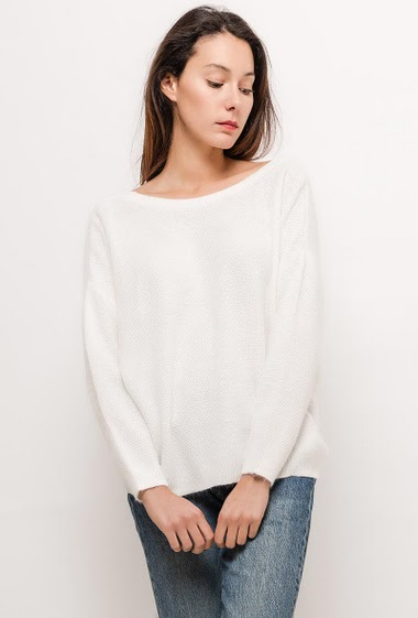 Sweater with button back