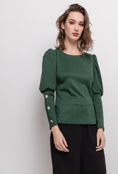 WILLY Z blouse with golden buttons CIFA FASHION