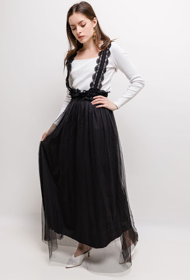Maxi dress, sold without top. The model measures 168cm, one size corresponds to 10/12(UK) 38/40(FR). Length:145cm