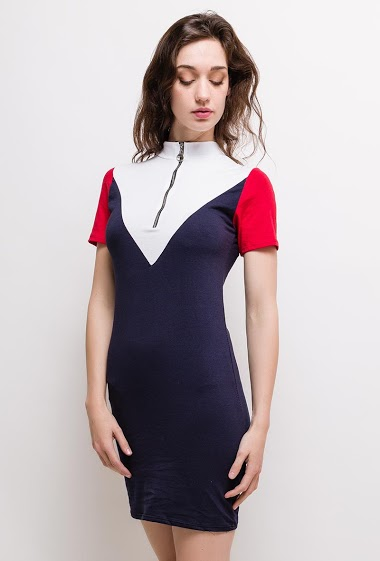WILLY Z tricolor dress AUBERVILLIERS FASHION