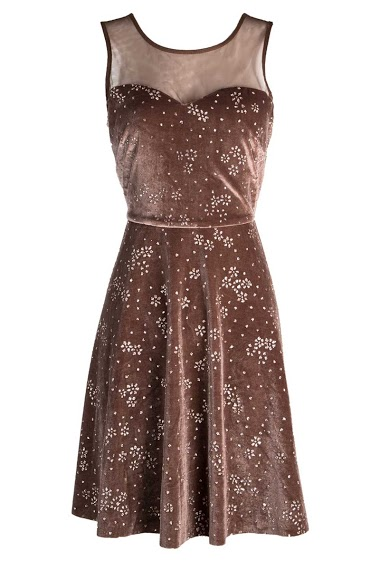 Glittery velvet dress