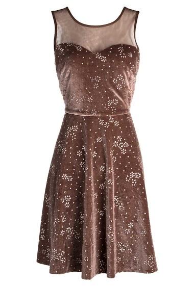 WISH BY ANJEE glittery velvet dress FASHION CENTER