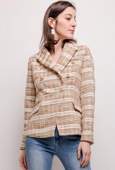 Shiny blazer tweed