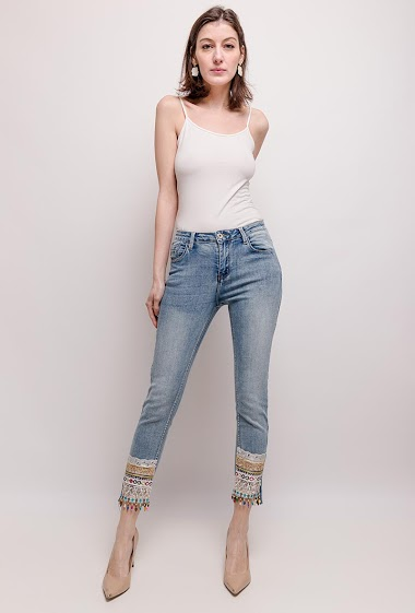 Jeans with embroideries