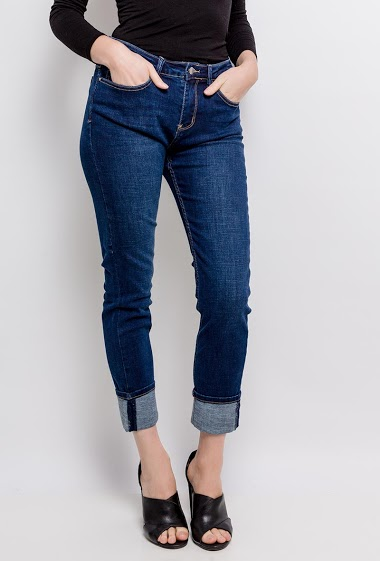 Jeans with turn-up